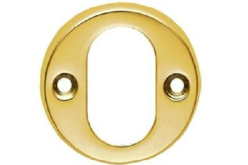 ESC02 Standard Brass Oval Escutcheon